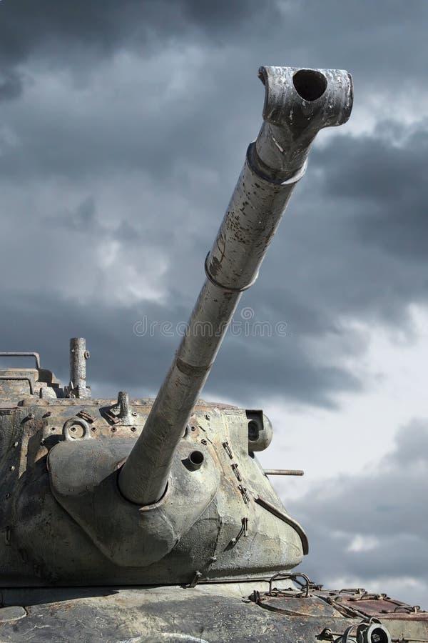 Barril de arma de los tanques de la guerra del ejército foto de archivo libre de regalías