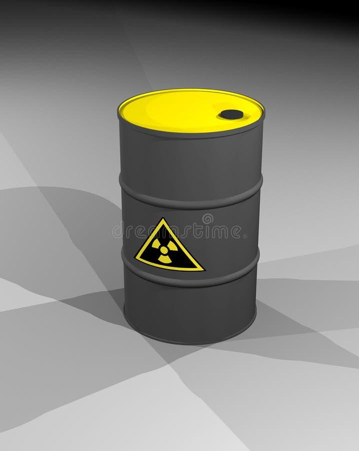 Barril de basura nuclear imagen de archivo
