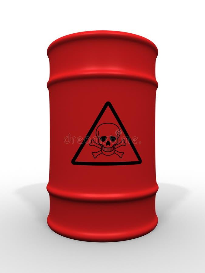 Barril de la basura tóxica ilustración del vector