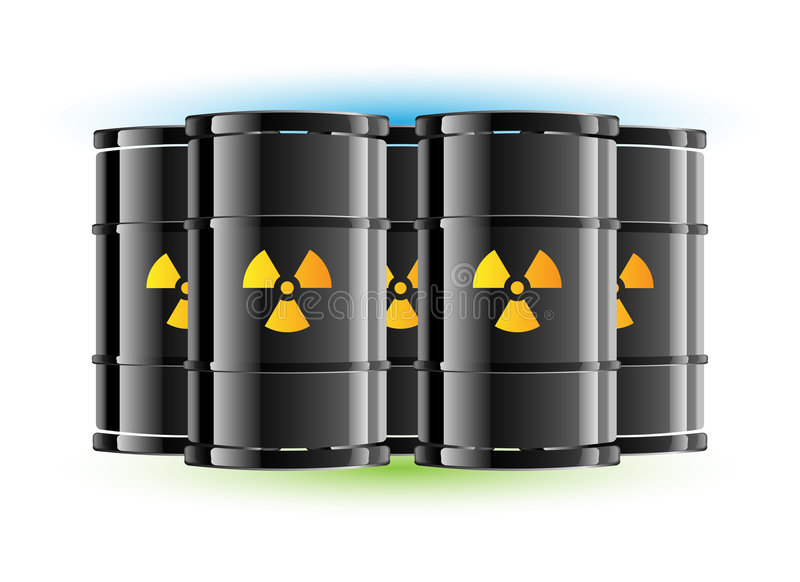 Barril de la muestra de la radiación libre illustration