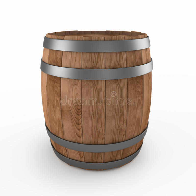 Barril de madera ilustración del vector