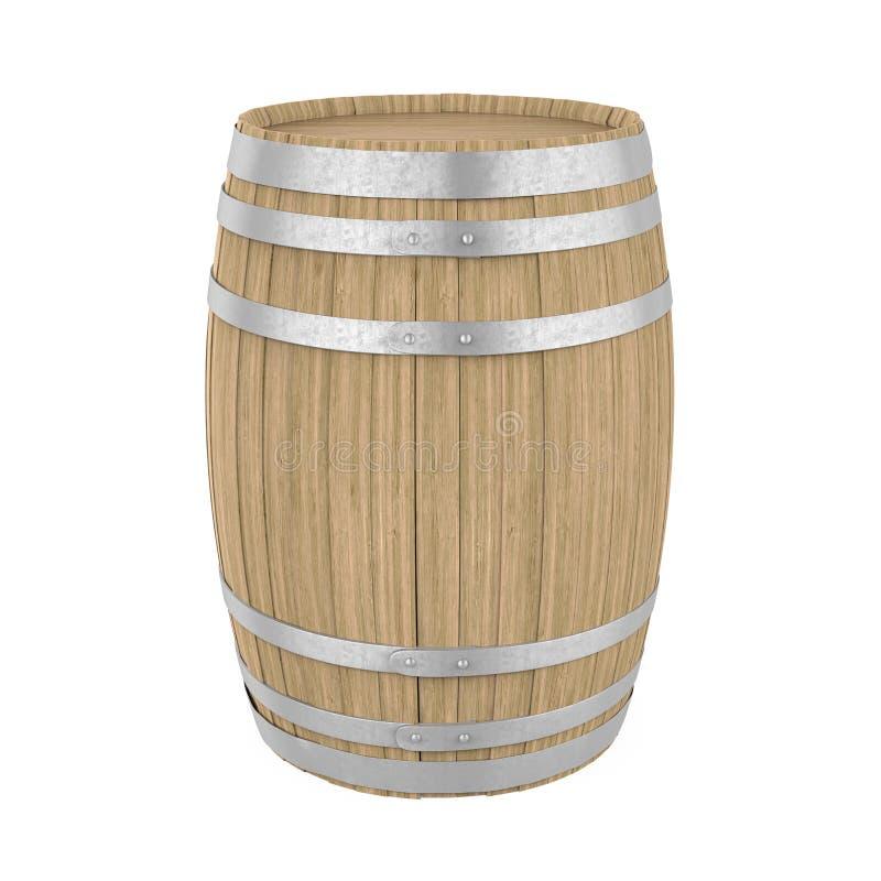Barril de madera aislado libre illustration
