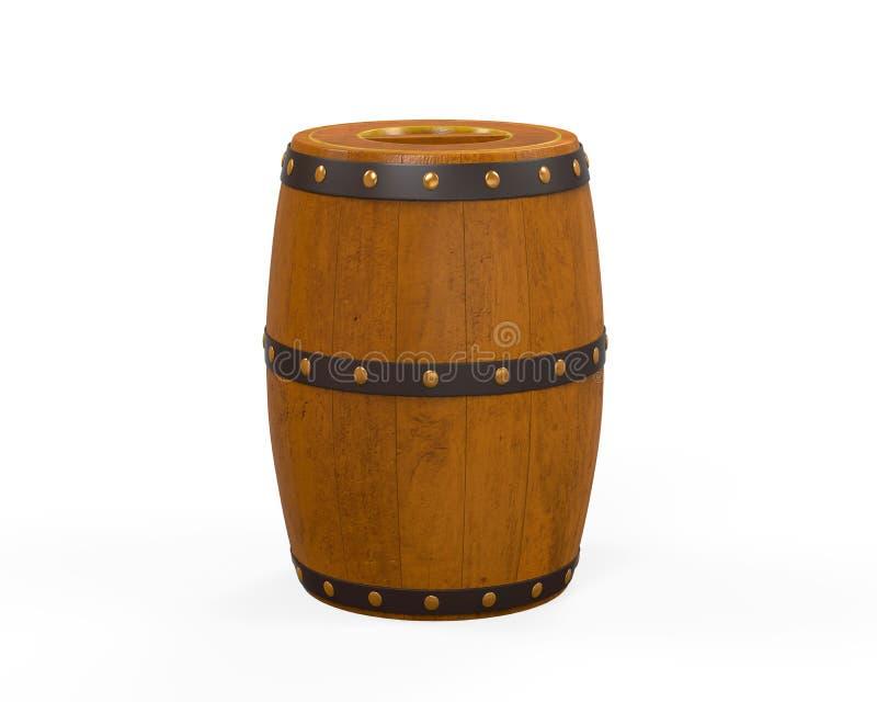 Barril de madera de la cerveza ilustración del vector