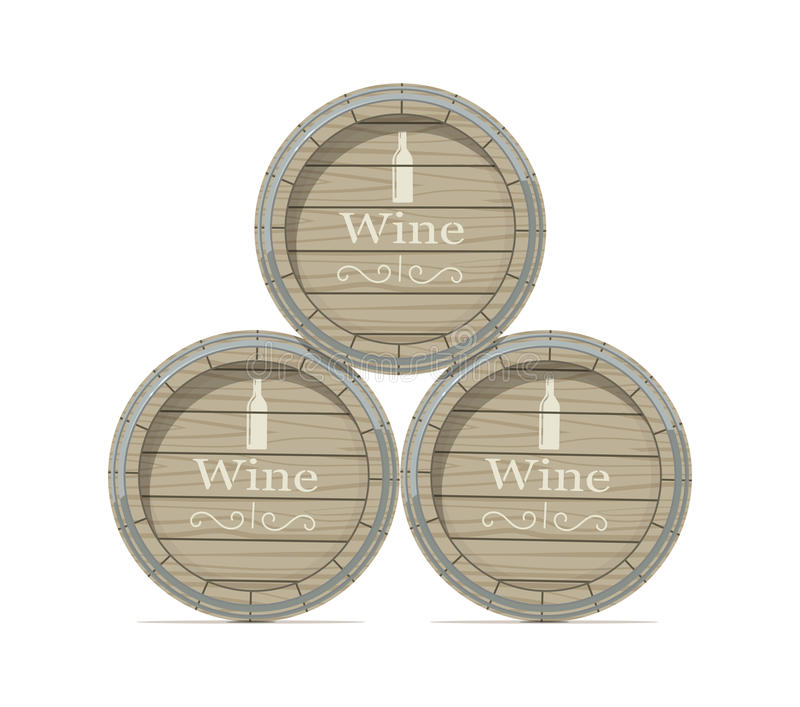 Barril de madera del vino ilustración del vector