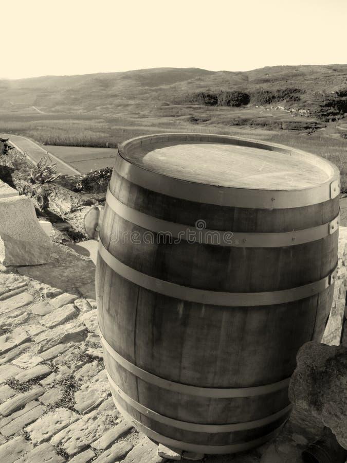 Barril de madera viejo foto de archivo libre de regalías