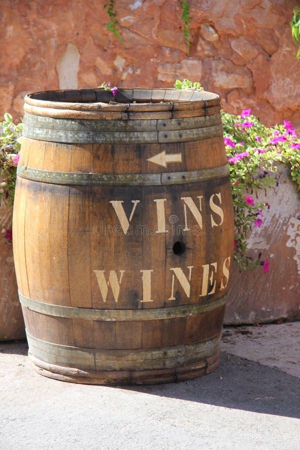 Barril de vino de madera imagen de archivo libre de regalías