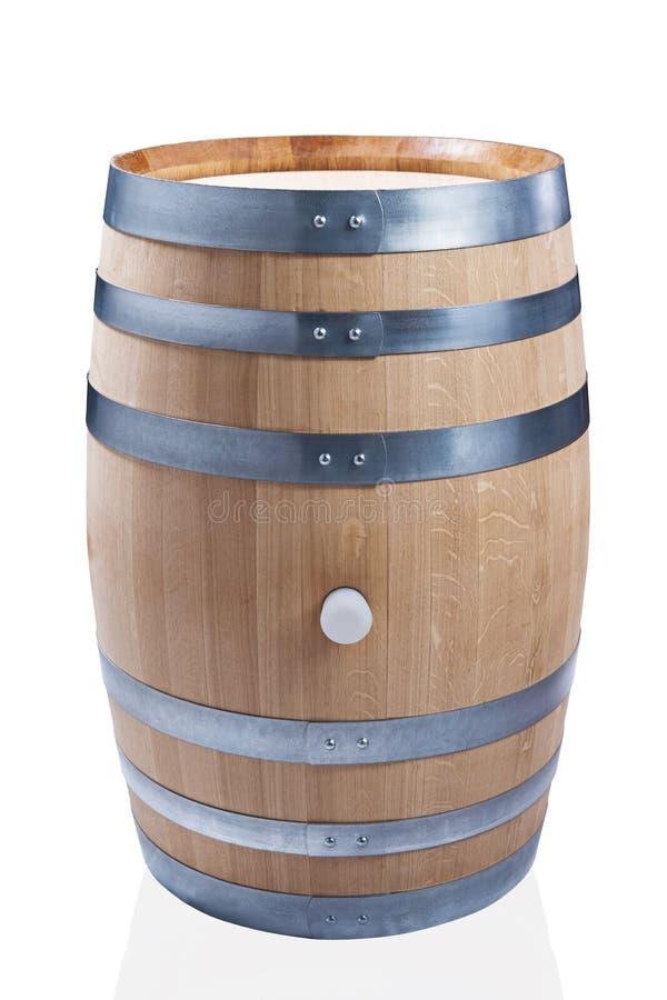 Barril de vino de madera fotos de archivo