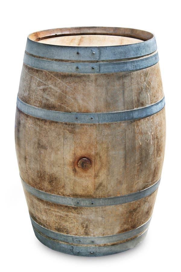 Barril de vino en blanco imagen de archivo libre de regalías