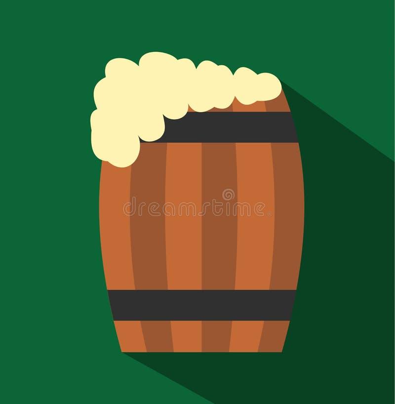 Barril do ícone liso da cerveja ilustração royalty free