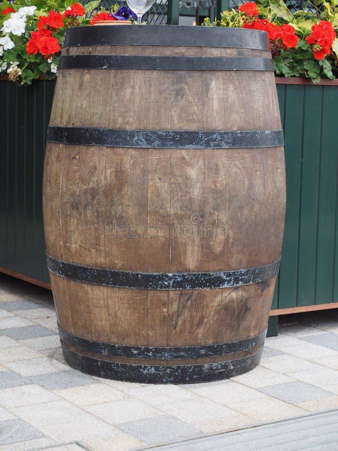 barril do tambor para o vinho foto de stock royalty free