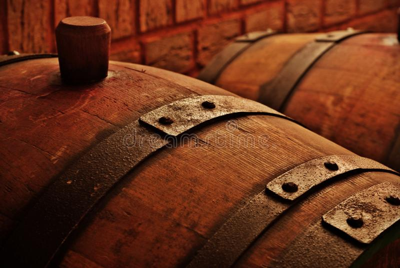 Barril en celler del vino imagen de archivo libre de regalías