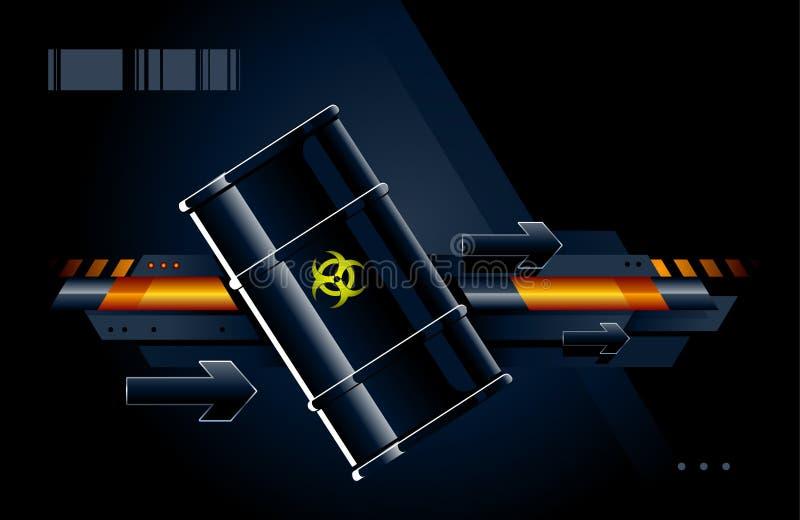 Barril negro ilustración del vector