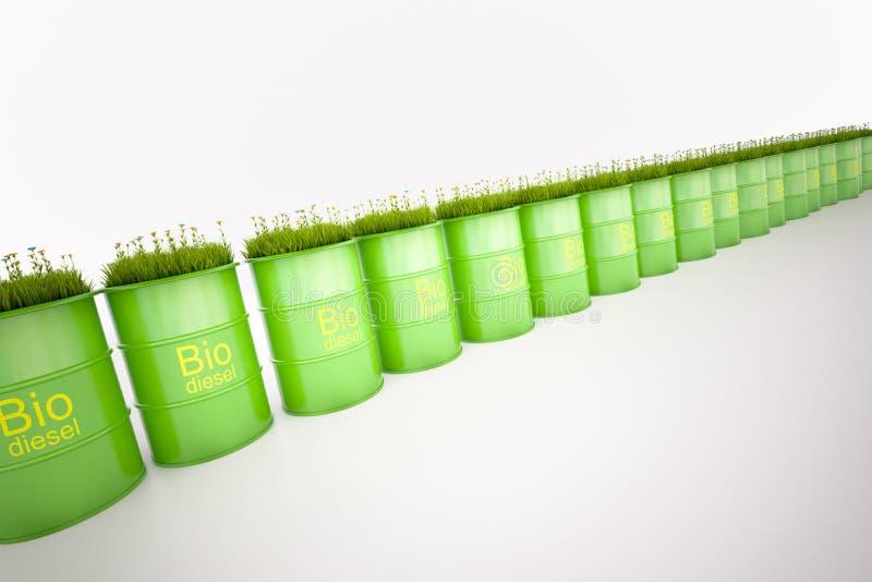 Barril verde de bio combustible imágenes de archivo libres de regalías