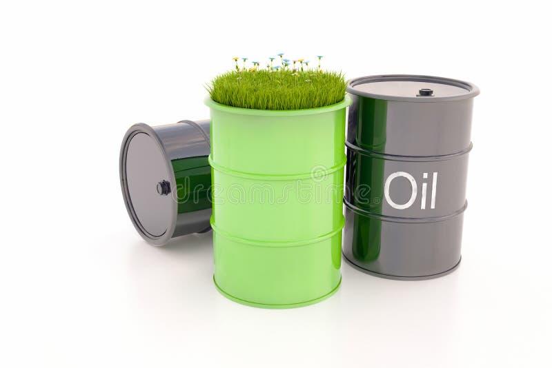 Barril verde de bio combustible fotografía de archivo