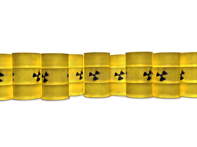 Barriles amarillos stock de ilustración