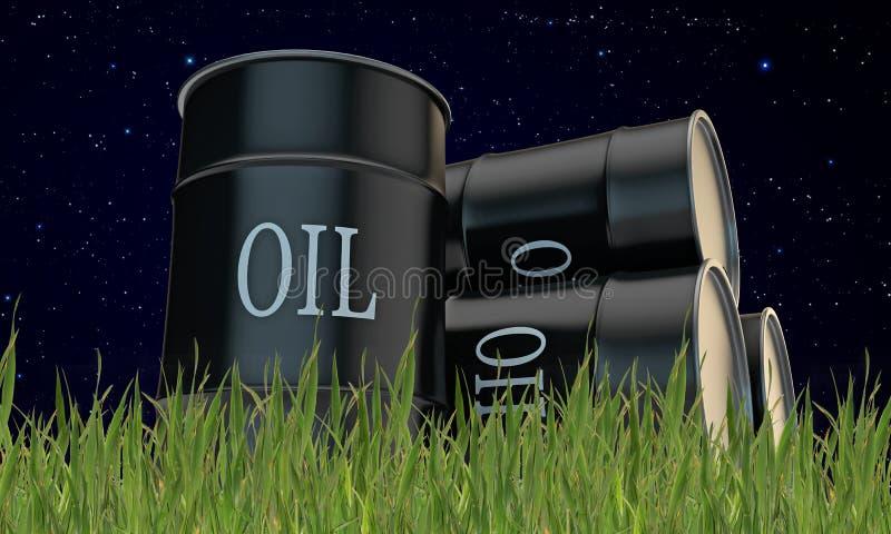 Barriles de aceite ilustración del vector