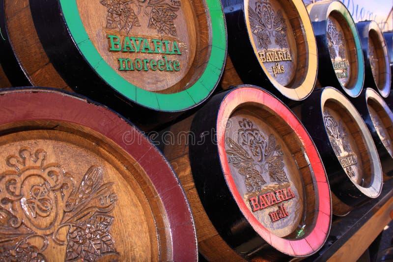 Barriles de cerveza de madera de Baviera imagen de archivo libre de regalías