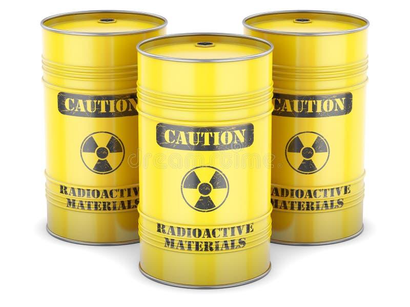 Barriles de los desechos radioactivos libre illustration