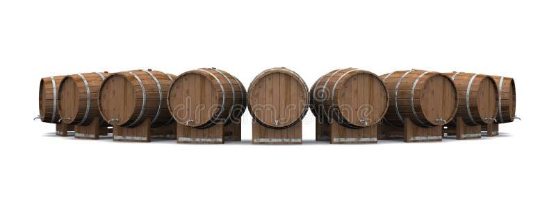 Barriles de madera imágenes de archivo libres de regalías