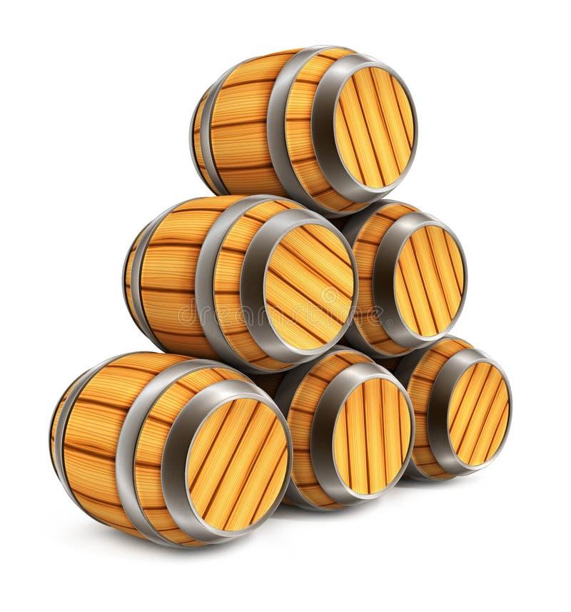 Barriles de madera para el almacenaje del vino y de la for Barriles de madera bar