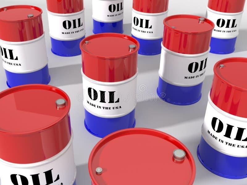 Barriles de petróleo domésticos de los E.E.U.U. imagen de archivo libre de regalías