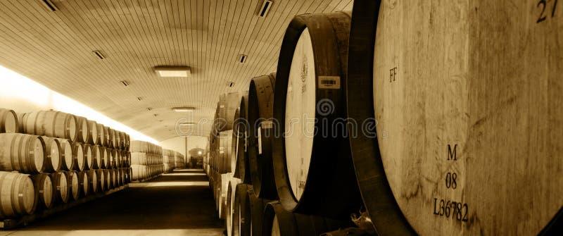 Barriles de vino fotos de archivo