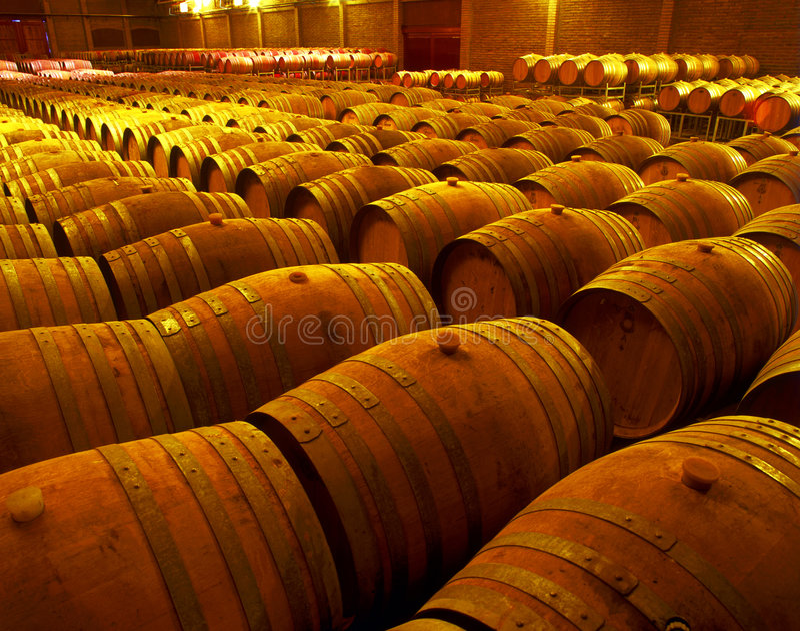 Barriles de vino foto de archivo libre de regalías