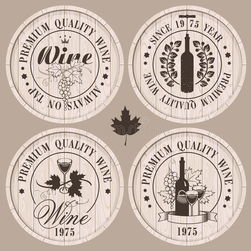 Barriles de vino imagen de archivo libre de regalías