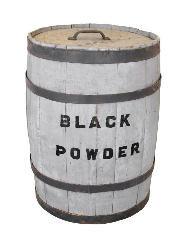 Barrilete de polvo negro aislado. imagenes de archivo