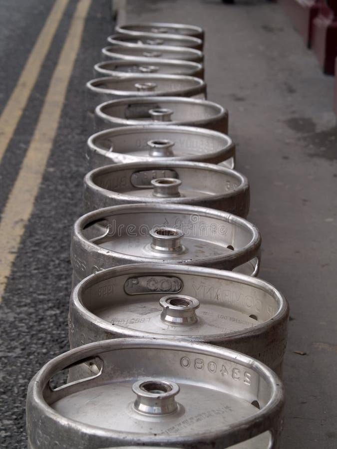 Barriletes de cerveza fotografía de archivo