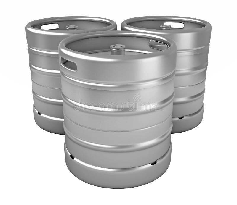 Barriletes de cerveza ilustración del vector