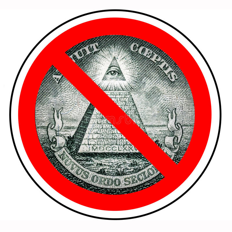 Free Barring A World Government. The End Of The New World Order. Prohibited Illuminati. Ban Mason. One Dollar Pyramid Isolated Royalty Free Stock Images - 83725049