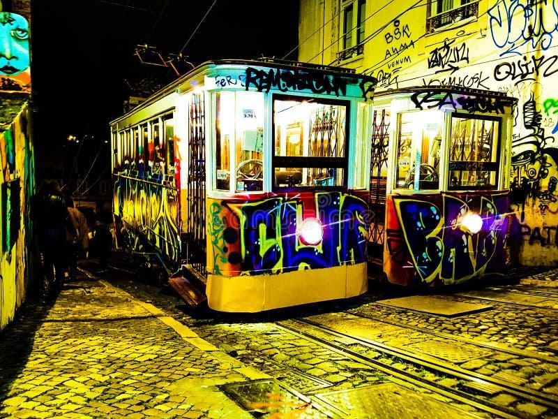 Barrio alto. Barrio altos elevators, Lisbon stock image