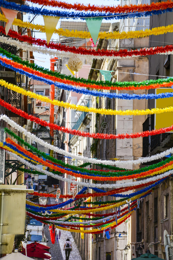 Barrio Alto Lisbon lizenzfreies stockbild