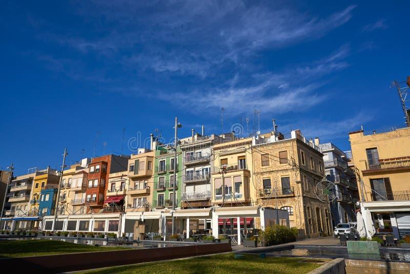 Barrio EL Serrallo in Tarragona Katalonien stockbild