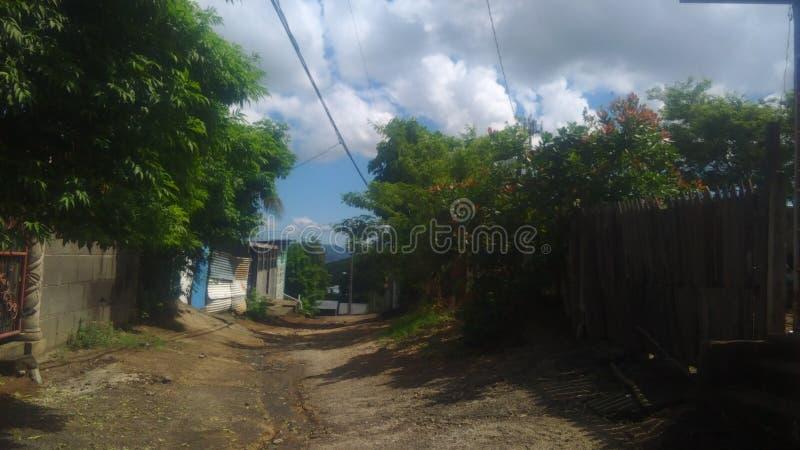 Barrio en Managua. City, country, natural, downtow, street, plane stock photography