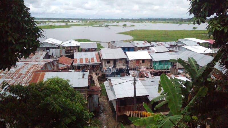 Barrios av Iquitos fotografering för bildbyråer