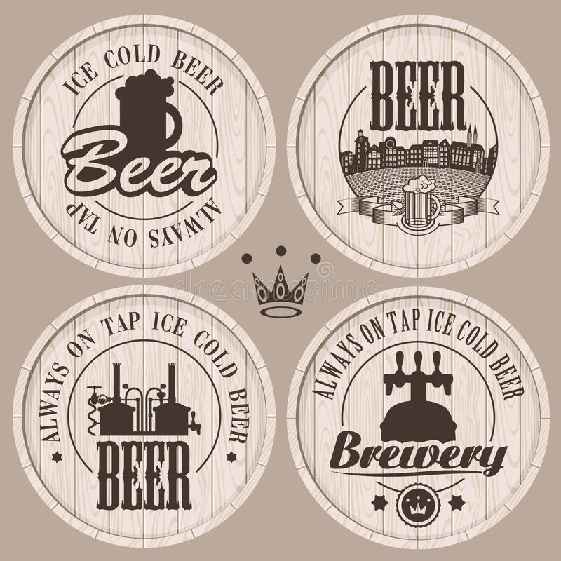 Barris da cerveja ilustração do vetor
