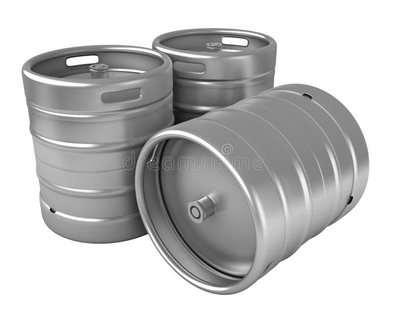 Barris de cerveja ilustração stock