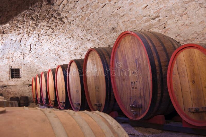 Barris de vinho fotografia de stock royalty free