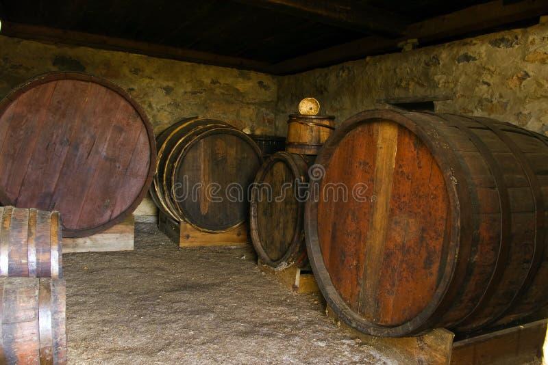 Barris de vinho imagem de stock