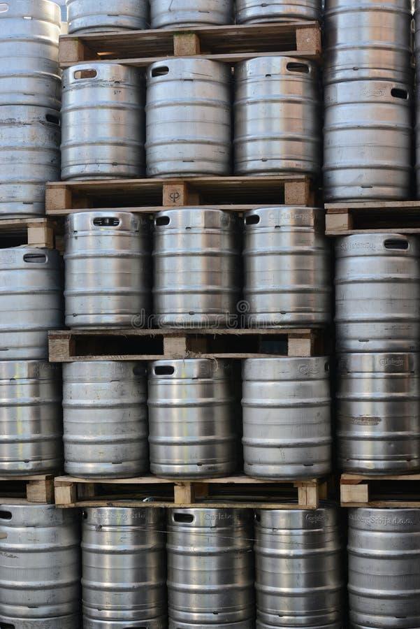 Barris dos tambores de cerveja fotografia de stock royalty free