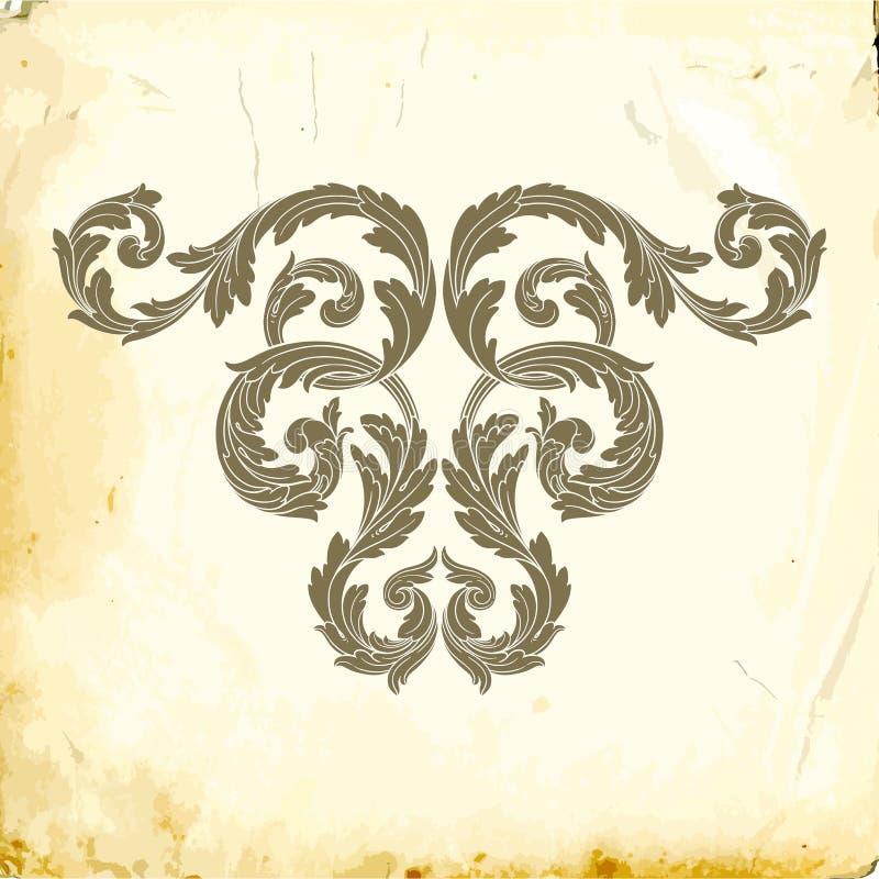 Barroco del vector de los elementos del vintage para el diseño ilustración del vector