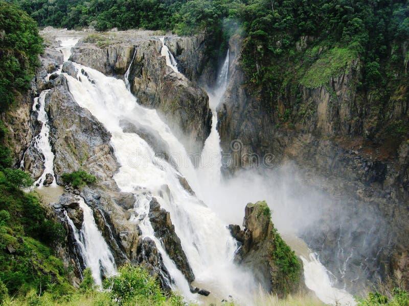 Barron Falls Kuranda Queensland tijdens het natte seizoen stock afbeeldingen
