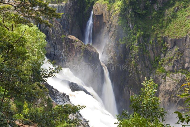 Barron Falls, Kuranda, Steenhopen, Queensland, stock foto