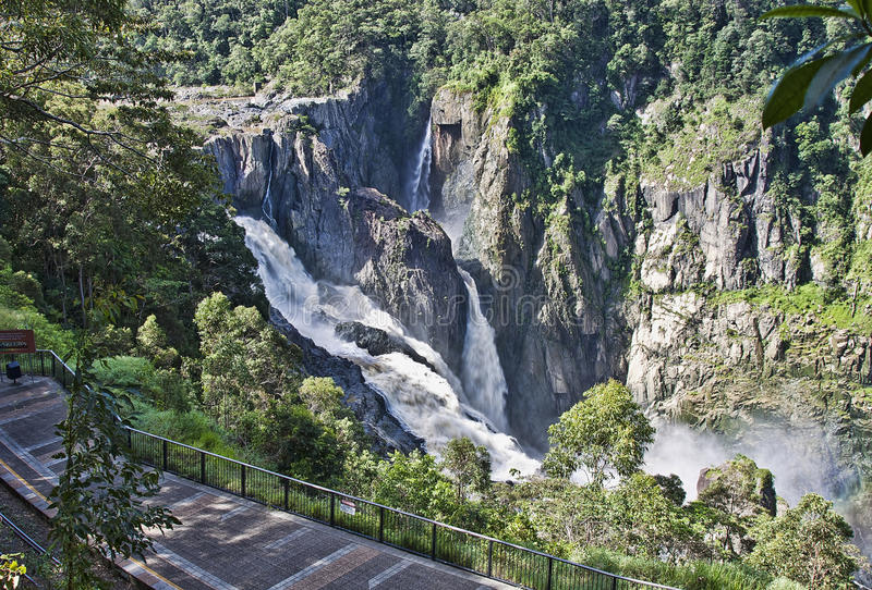 Barron Falls Kuranda. Barron falls which is located in the Barron Gorge National Park royalty free stock images