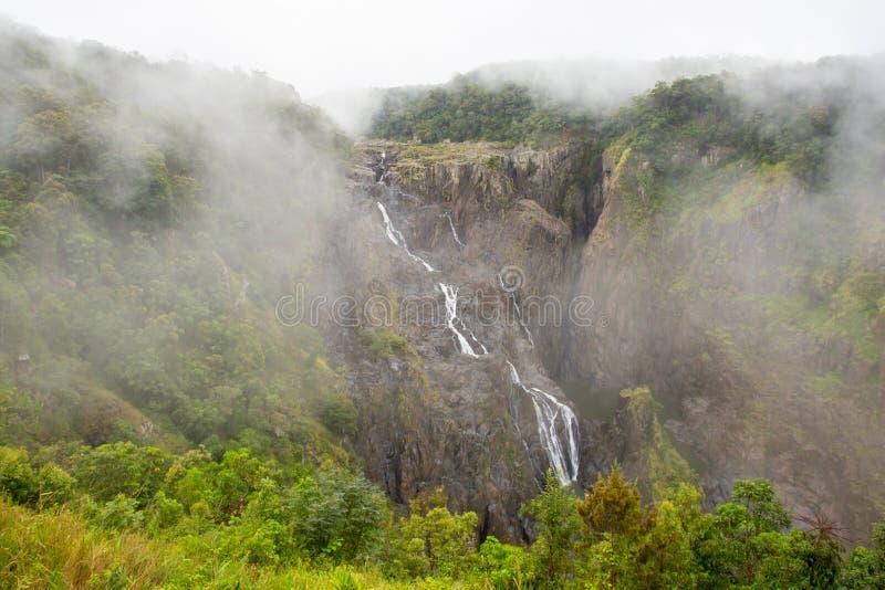 Barron Falls op Misty Day royalty-vrije stock fotografie