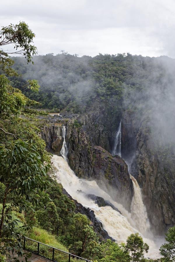 Barron Falls una cascada en Barron River fotos de archivo