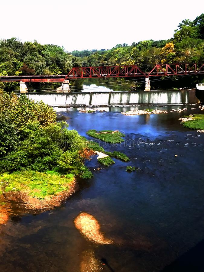 Barron Fork River Dam Mcminnville Tennessee stockfotografie