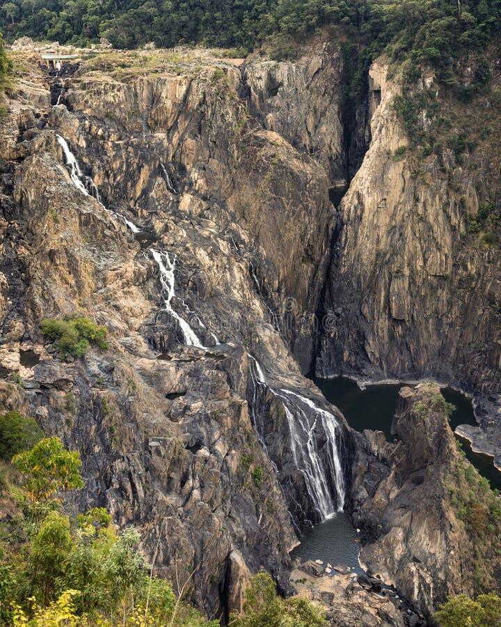 Barron spada kaskadą siklawę, Queensland Australia fotografia royalty free